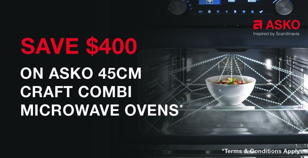 Save $400 on ASKO Combi Microwave Craft Ovens