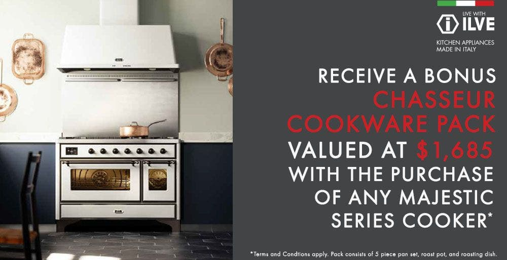 Ilve Bonus Gift with Ilve Majestic Cooker