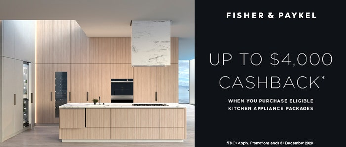 Fisher & Paykel Kitchen Cashback