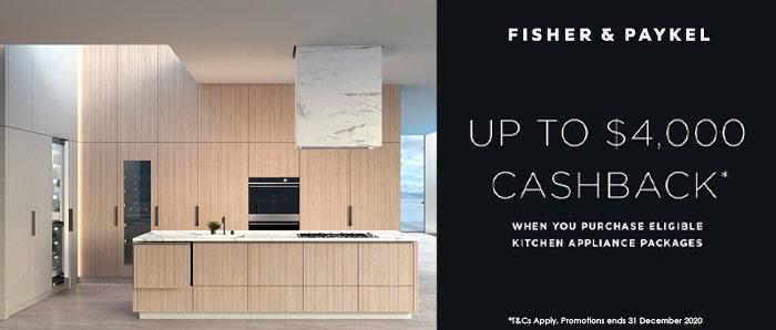 Fisher & Paykel Kitchen Cashback