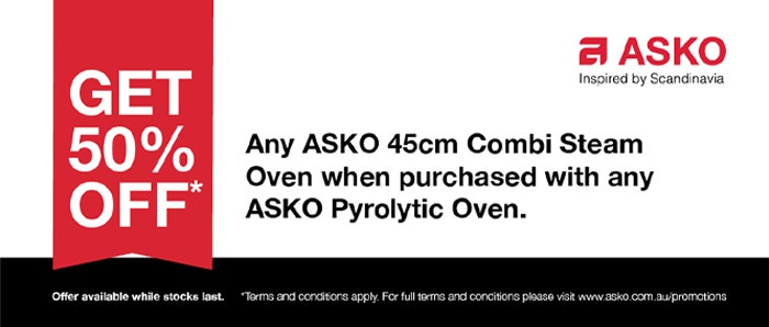 Asko 50% Off Combi Steam Oven with Pyrolytic Oven