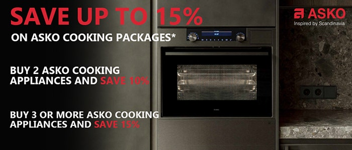 Save up to 15% on ASKO Cooking Packages