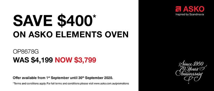 Save $400 on ASKO Elements Oven