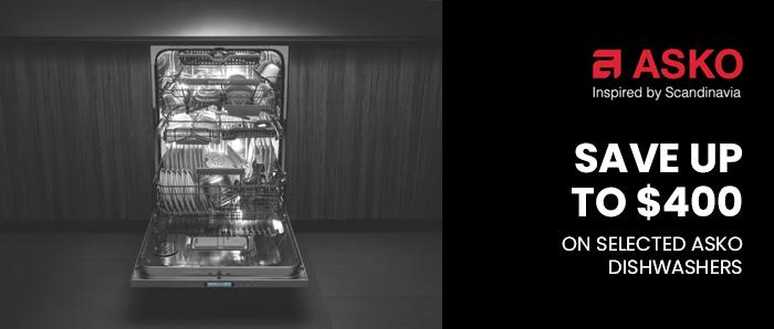 Save upto $400 on Selected Asko Dishwasher