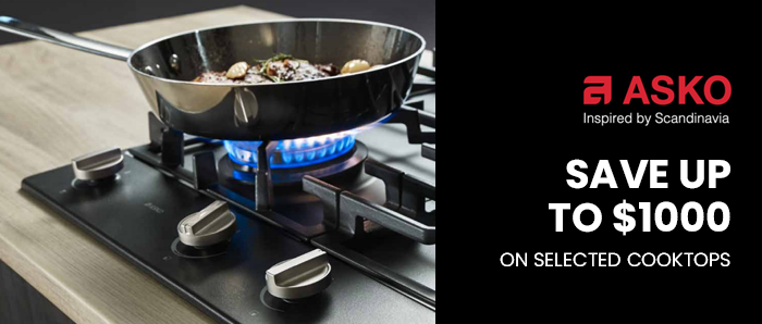 Save Upto $1000 off on Selected ASKO Cooktop