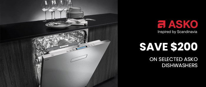 Save Upto $200 off on Selected ASKO Dishwasher