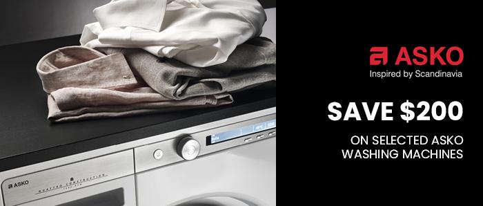 Save Upto $200 off on Selected ASKO Washing Machine