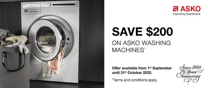 Save $200 on ASKO Washing Machines