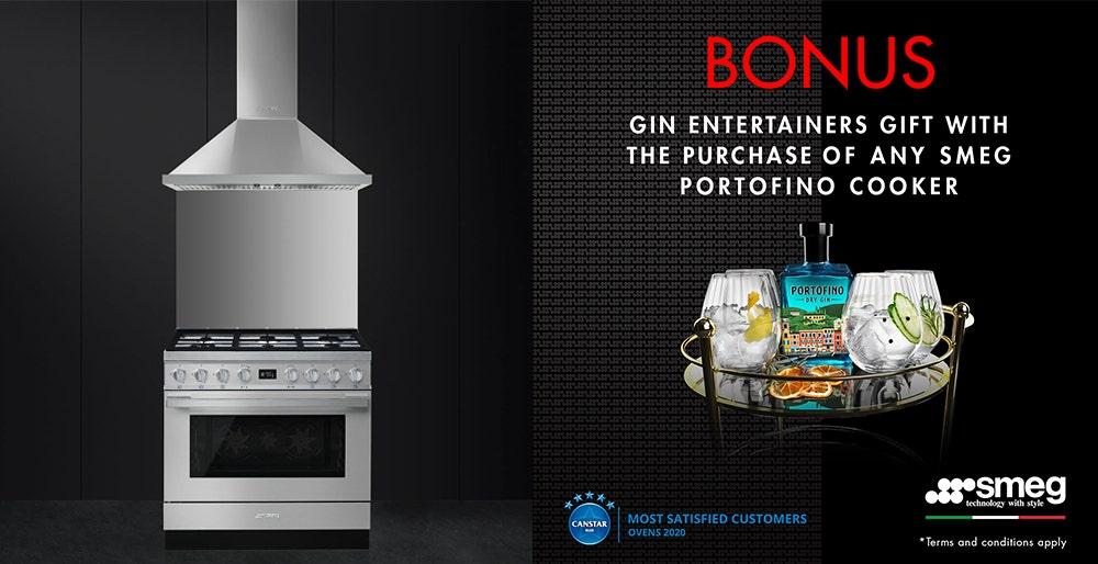Buy an eligible Smeg Portofino oven and receive a Bonus Gift