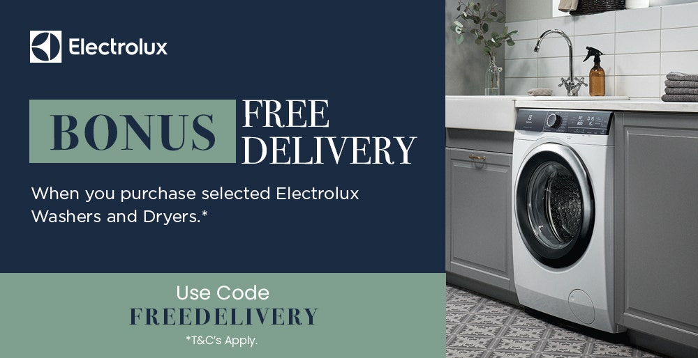 Bonus Free Delivery on Selected Electrolux Laundry