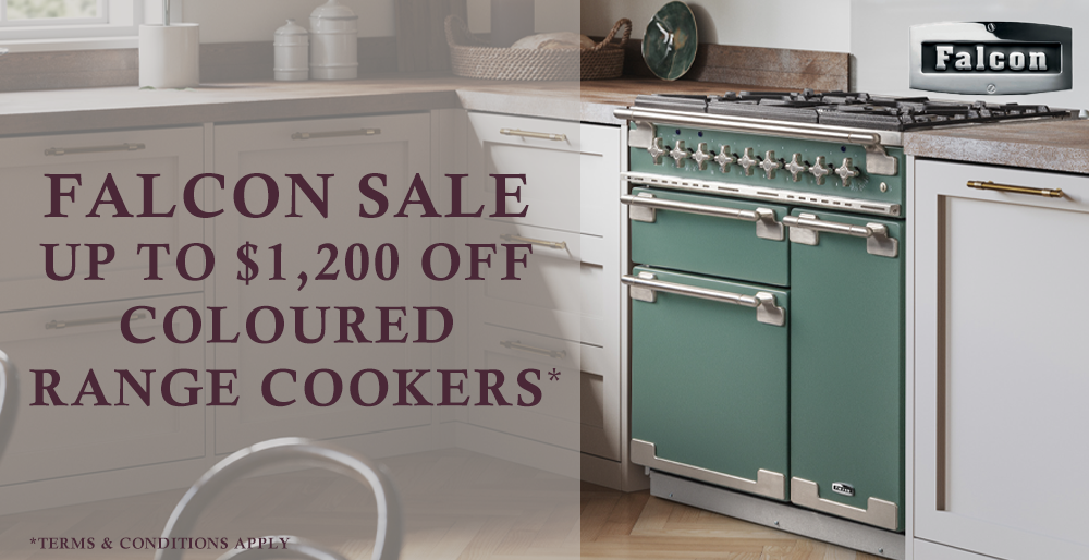 Save up to $1,200 on Falcon coloured range cookers
