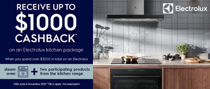 Electrolux $1000 Kitchen Cashback