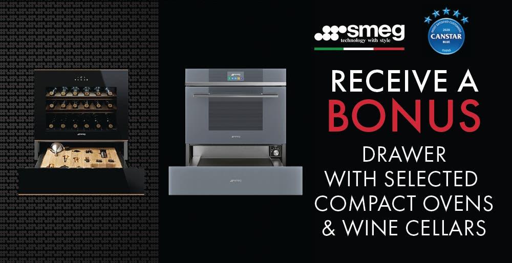 Smeg Compact Oven and Cellar Bonus