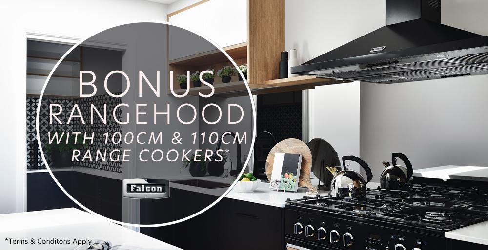Bonus rangehood with selected Falcon cookers