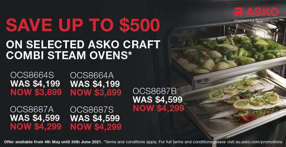 ASKO Save on Combi Steam Craft Ovens