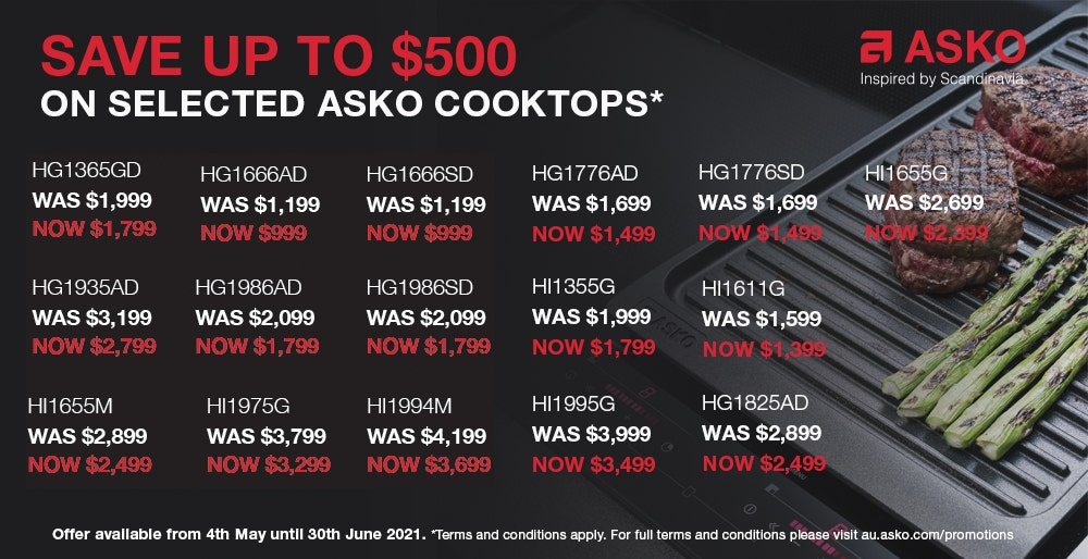 ASKO Save on Cooktops