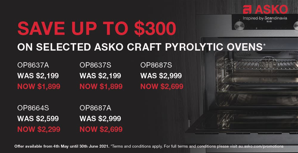 ASKO Save on Pyrolytic Craft Ovens