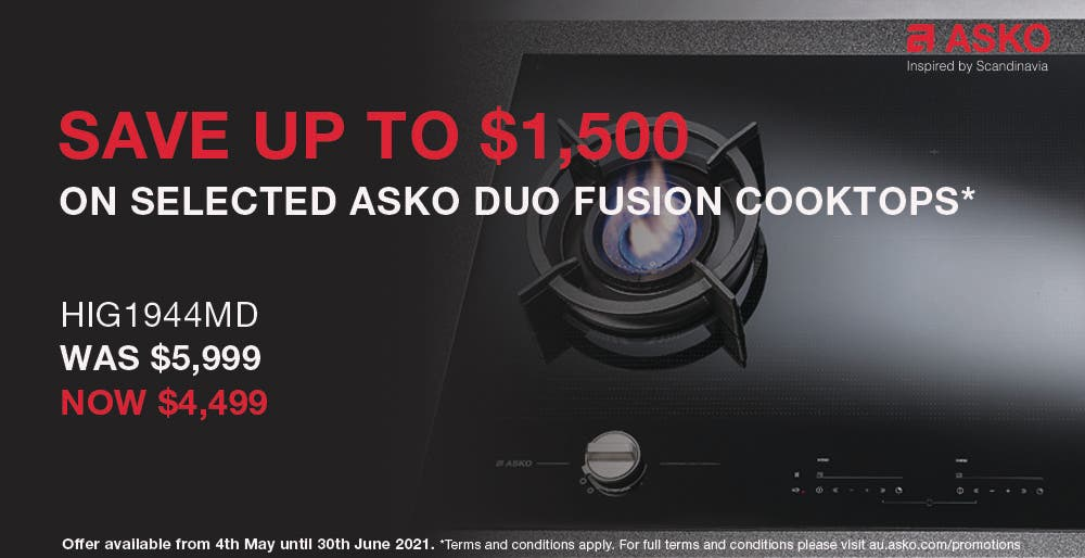 ASKO Save on Duo Fusion Cooktops