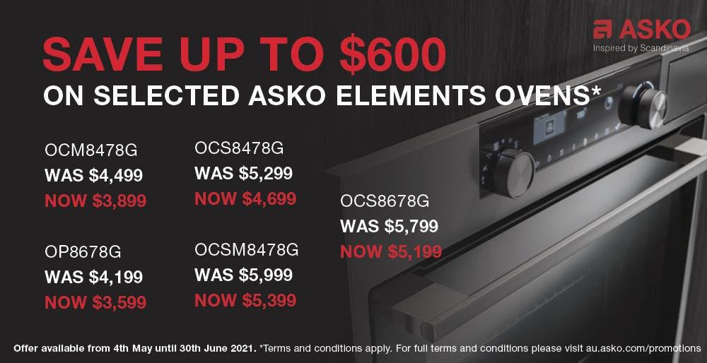 ASKO Save on Elements Ovens