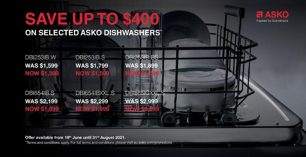 ASKO Dishwasher Sale June - August 2021